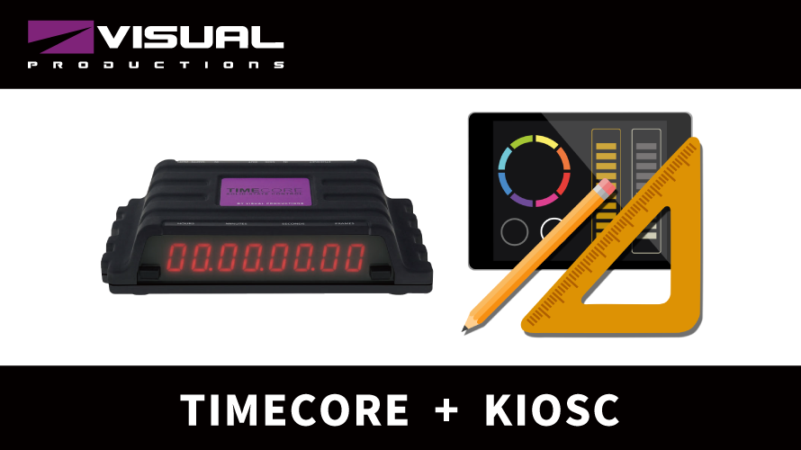 "【VISUAL PRODUCTINOS】「KIOSC」活用法 ""TIMECODEツールボックス"""