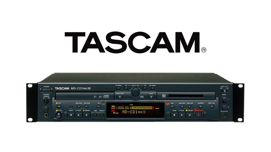 【TASCAM】 CDプレーヤー/MDレコーダー MD-CD1MKIII 在庫分限りで販売終了予定のご案内