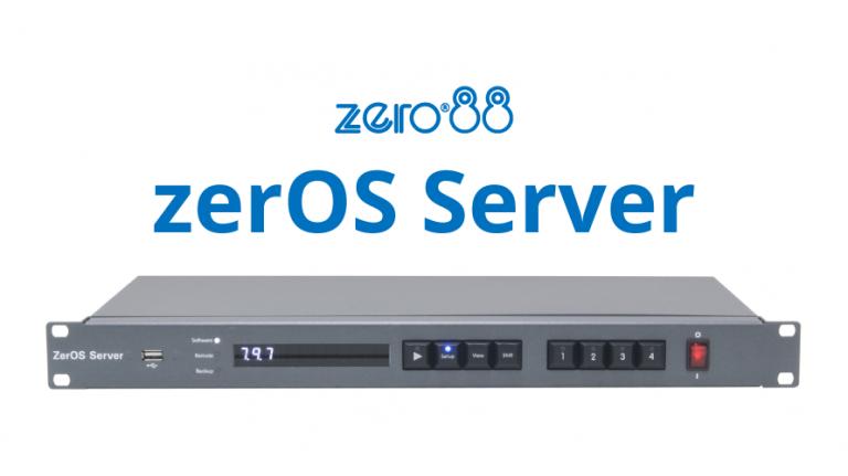 【zero88 】zerOS Serverのバックアップ機能とシーンの接点制御の紹介